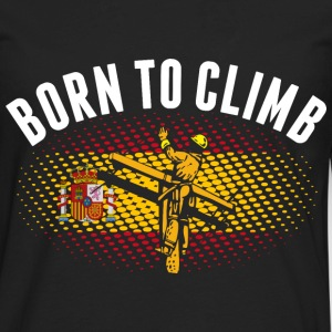 Born To Climb Spanish Lineman - Men's Premium Long Sleeve T-Shirt