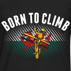 Born To Climb Welsh Lineman - Men's Premium Long Sleeve T-Shirt