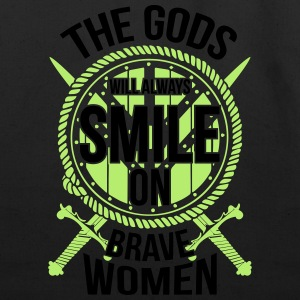 Viking - the gods will always smile on brave women Women's T-Shirts - Eco-Friendly Cotton Tote