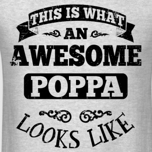 Awesome Poppa Looks Like Long Sleeve Shirts - Men's T-Shirt