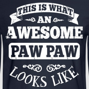 Awesome Paw Paw Hoodies - Men's Long Sleeve T-Shirt