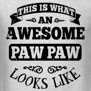 Awesome Paw Paw Long Sleeve Shirts - Men's T-Shirt