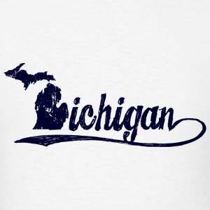 Michigan Script Long Sleeve Shirts - Men's T-Shirt
