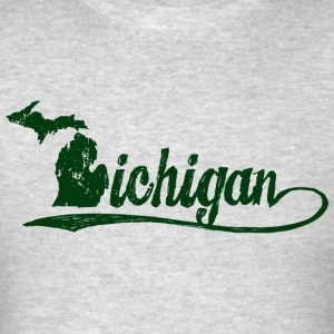 Michigan Script Sweatshirts - Men's T-Shirt