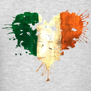 Irish Bleeding Love Heart Tanks - Men's T-Shirt