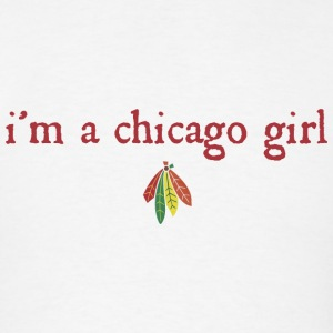 I'm A Chicago Hockey Girl Hoodies - Men's T-Shirt