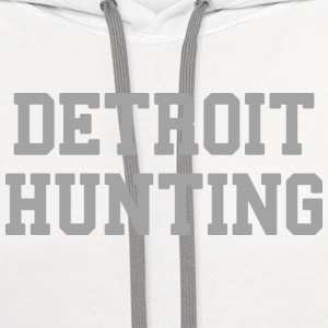 Detroit Hunting Long Sleeve Shirts - Contrast Hoodie