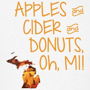 Apples Cider Donuts Oh Michigan Leaves Long Sleeve Shirts - Men's T-Shirt