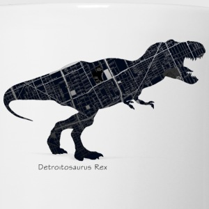 Detroit Dinosaur City Map Tyrannosaurus  Baby & Toddler Shirts - Coffee/Tea Mug