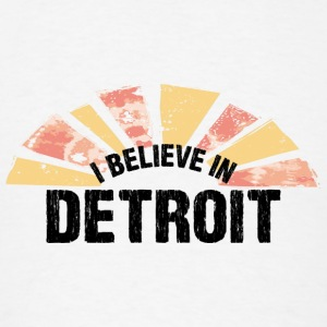 I Believe In Detroit Long Sleeve Shirts - Men's T-Shirt