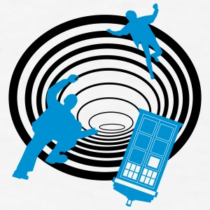 TARDIS in the Time Tunnel - Men's T-Shirt