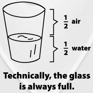 Technically, The Glass Is Always Full - Bandana