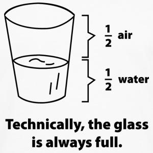 Technically, The Glass Is Always Full - Men's Premium Long Sleeve T-Shirt