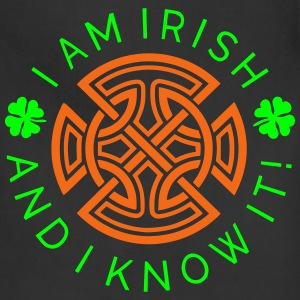 Irish and I Know It - Irish Ornament 2C Women's T-Shirts - Adjustable Apron