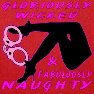 Sexy, Wicked & Naughty Woman w Handcuffs  - Tote Bag