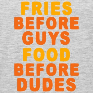 FRIES BEFORE GUYS - FOOD BEFORE DUDES Sweatshirts - Men's Premium Long Sleeve T-Shirt