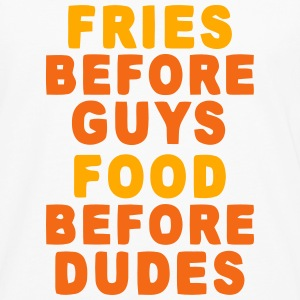 FRIES BEFORE GUYS - FOOD BEFORE DUDES Baby Bodysuits - Men's Premium Long Sleeve T-Shirt