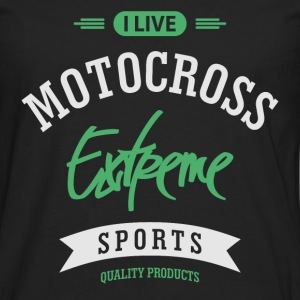 Motocross Extreme Sport T-shirt - Men's Premium Long Sleeve T-Shirt