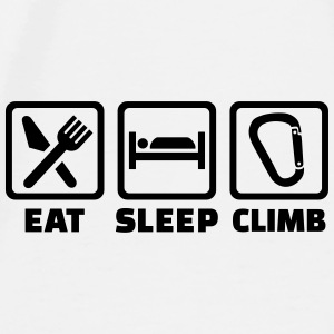 Eat Sleep climb Mugs & Drinkware - Men's Premium T-Shirt