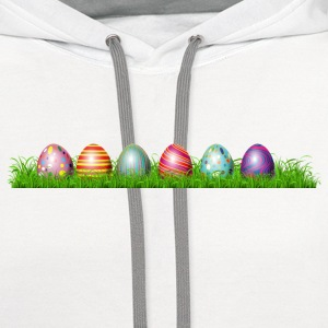 Easter eggs in grass - Contrast Hoodie
