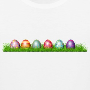 Easter eggs in grass - Men's Premium Tank