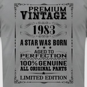 PREMIUM VINTAGE 1983 Long Sleeve Shirts - Men's T-Shirt by American Apparel