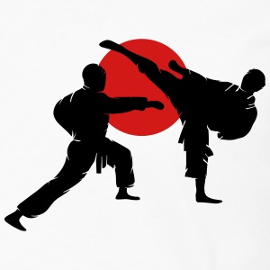 two karate fighter  T-Shirts - Men's Premium Long Sleeve T-Shirt