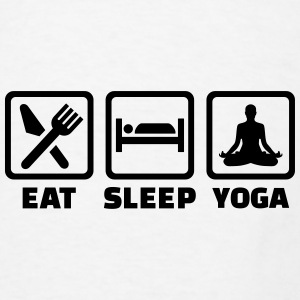 Eat sleep yoga Mugs & Drinkware - Men's T-Shirt