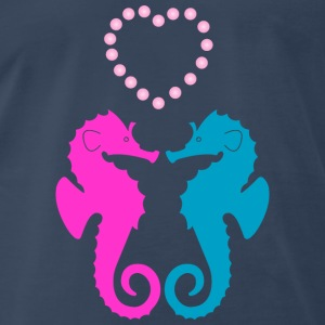 Two sea horses in love Tanks - Men's Premium T-Shirt