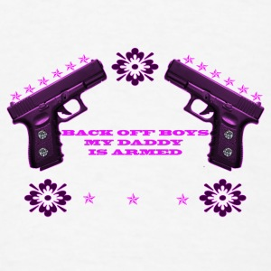 BACKOFF BOYS MY DADDY IS ARMED - Men's T-Shirt