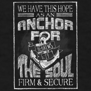 Anchor Hebrews Chalk Art Mugs & Drinkware - Men's T-Shirt