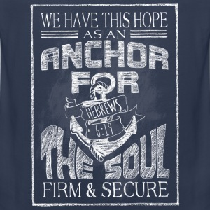 Anchor Hebrews Chalk Art Kids' Shirts - Men's Premium Tank