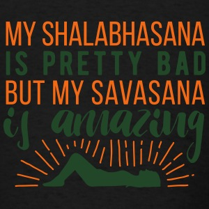 Yoga: My Shalabhasana is pretty bad, but... Tanks - Men's T-Shirt