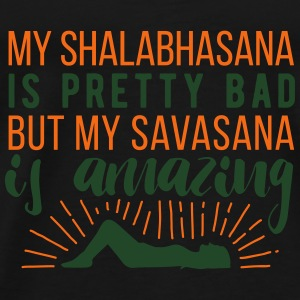 Yoga: My Shalabhasana is pretty bad, but... Tanks - Men's Premium T-Shirt
