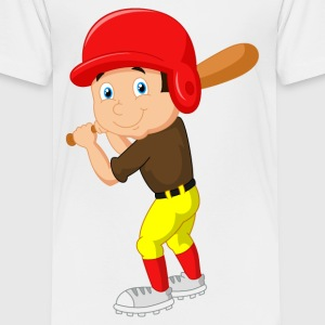 Boy Baseball Player 2 - Toddler Premium T-Shirt