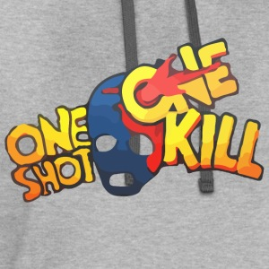 One Shot One Kill T-shirt T-Shirts - Contrast Hoodie