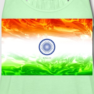 Flag of India T-Shirts - Women's Flowy Tank Top by Bella