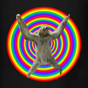 Magic Rainbow Sloth - Men's T-Shirt
