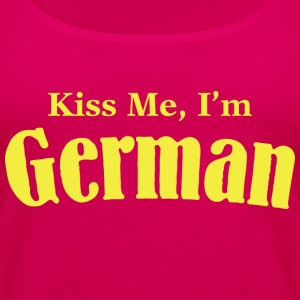 Kiss Me, I'm German - Women's Premium Tank Top