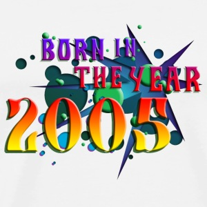 022016born_in_the_year_2005_b Buttons - Men's Premium T-Shirt