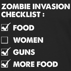 Zombie Invasion Checklist - Men's Premium Long Sleeve T-Shirt