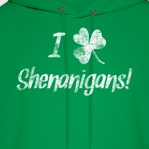 I Love Clover Shenanigans St. Patrick's Day Tshirt - Men's Hoodie