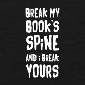 Book Reading Book's spine Reading T Shirt Mugs & Drinkware - Men's Premium Tank