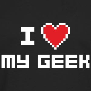 I Love My Geek - Men's Premium Long Sleeve T-Shirt