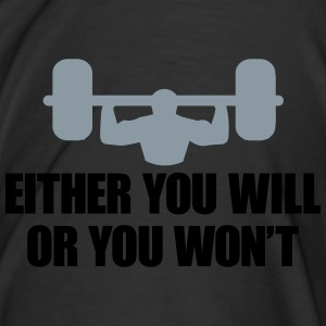 Gym Will or Won't Power Bottoms - Men's Premium T-Shirt