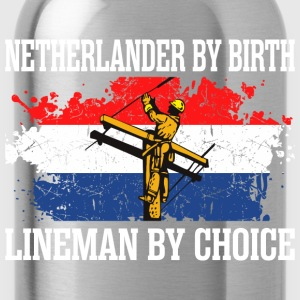 Netherlander By Birth Lineman By Choice - Water Bottle