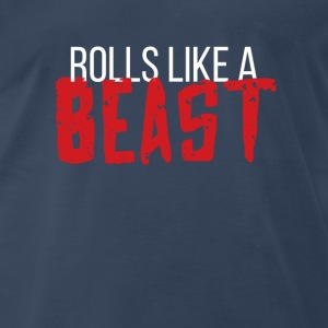 BJJ Rolls like a beast Martial Arts T Shirt Tanks - Men's Premium T-Shirt