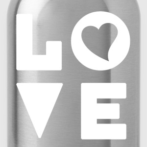 Love Heart - Inspirational - Water Bottle