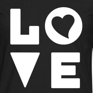 Love Heart - Inspirational - Men's Premium Long Sleeve T-Shirt