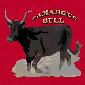 Camargue black bull   - Men's T-Shirt by American Apparel
